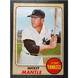 1968 TOPPS #280 MICKEY MANTLE VGEX+