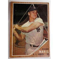 1962 TOPPS #1 ROGER MARIS VGEX