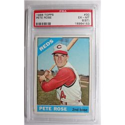1966 Topps 330 Pete Rose PSA 6 ST, EXMT