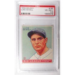 1933 Goudey #163 Luke Sewell PSA 4.5 VGEX+