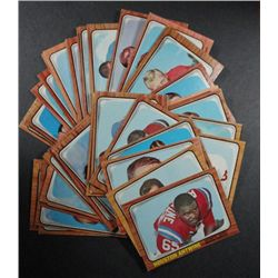 40 1966 Topps football cards  EX or better:2-4-8-9-10-11-21-22-33-34-37-42-52-