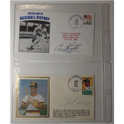 Autographed Caches, Steve Garvey & Enos Slaughter