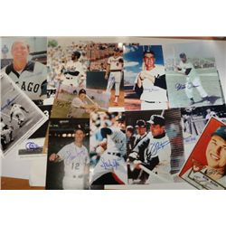 8 X 10 AUTOGRAPHED BASEBALL PLAYER LOT (13 DIFFERENT)