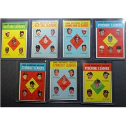 1963 Topps League Leaders (7 diff) Mostly EX