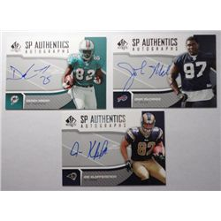 7-Diff. Autographed Football Cards, All NMMT, All Authentic