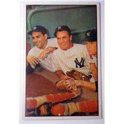 1953 Bowman Color #44 Bauer.Berra/Mantle