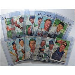 27 diff. 1952 Bowman Baseball Cards Mostly Ex+