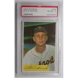 1954 Bowman #199 Steve Gromek PSA 8 NMMT