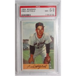 1954 Bowman #119 Fred Hatfield PSA 8 NMMT