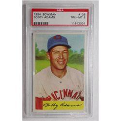 1954 Bowman #108 Bobby Adams PSA 8 NMMT