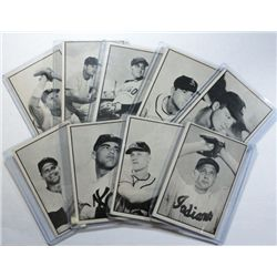 17 diff. 1953 Bowman Black/White Baseball Cards Nice EX-VGEX