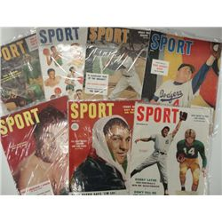 7 DIFFERENT 1950'S SPORT MAGAZINES EXCELLENT