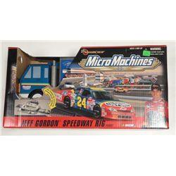 Jeff Gordon Speedway Rig Playset-Micro Machines Nascar
