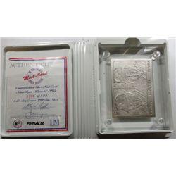 1993 Pinnacle NOLAN RYAN Highland Mint .999 SILVER Card