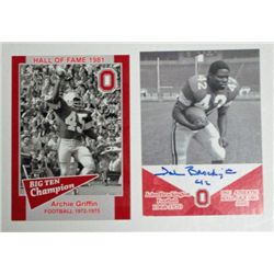2-OSU CARDS, Archie Griffin & John Brockington autograph