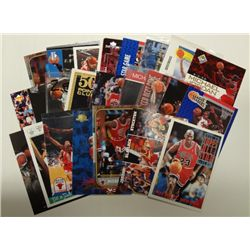 25-MICHAEL JORDAN BASKETBALL CARDS, ALL DIFFERENT PREMIUM BRANDS