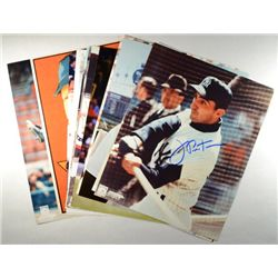12-AUTOGRAPHED 8X10 BASEBALL PHOTOS, ALL ORIGINAL
