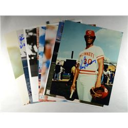 9-AUTOGRAPHED 8 X 10  BASEBALL PLAYERS