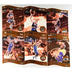 1997 UPPER DECK NESTLE SLAM DUNK CONTESTANTS SET 6cd INCLUDES KOBE