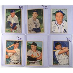 21-1952 BOWMAN BASEBALL CARDS VGEX