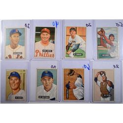 9-1951 BOWMAN BASEBALL CARDS  VGEX-VG