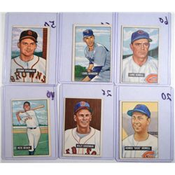 12-1951 BOWMAN BASEBALL CARDS MOSTLY VGEX-EX