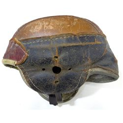 Vtg Leather Hutch H-17 Football Helmet U.S.A. RARE Red Sports Equipment Antique
