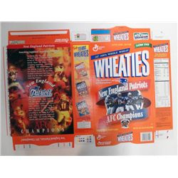 1997 NEW ENGLAND PATRIOTS 18oz FOOTBALL WHEATIES BOX FLAT