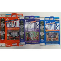 3-1996 WHEATIES VARI VIEW CEREAL BOXES FOOTBALL