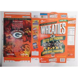 1997 GREEN BAY PACKERS SUPER BOWL WHEATIES CEREAL BOX