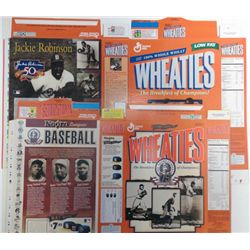 WHEATIES CEREAL BOXES, JACKIE ROBINSON & NEGRO LEAGUE