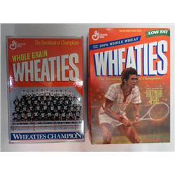 2-WHEATIES BOXES ARTHUR ASHE & REDMAN CHAMPION