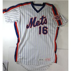 DWIGHT GOODEN W.S. PLAYOFF JERSEY AUTOGRAPHED