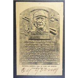 CY YOUNG AUTOGRAPHED COOPERSTOWN POSTCARD ORIGINAL