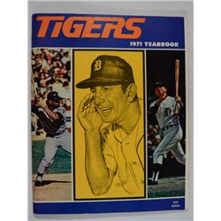 Vintage 1971 Detroit Tigers baseball yearbook Billy Martin cover