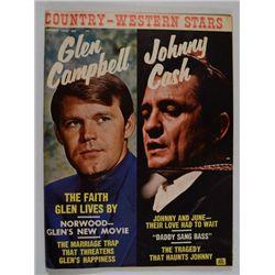 1970 COUNTRY & WESTERN WORLD MUSIC MAGAZINE  GLEN CAMPBELL / JOHNNY CASH