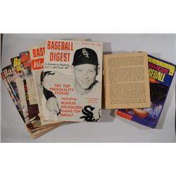 GROUP LOT BASEBALL MAGAZINES & BOOKS