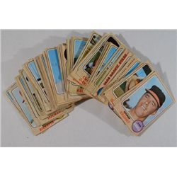 Nice starter set of 1968 Topps baseball: 100 different cards EX or better with