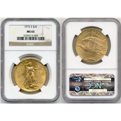 1915-S $20  St Gaudens NGC MS65