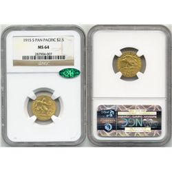 1915-S Pan Pacific $2.5 NGC MS64 CAC