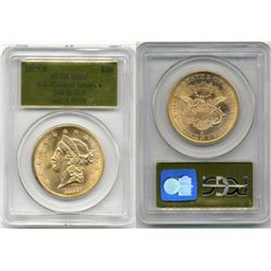 1857-S $20 PCGS MS65 SS Central America Shipwreck 20 Bold S