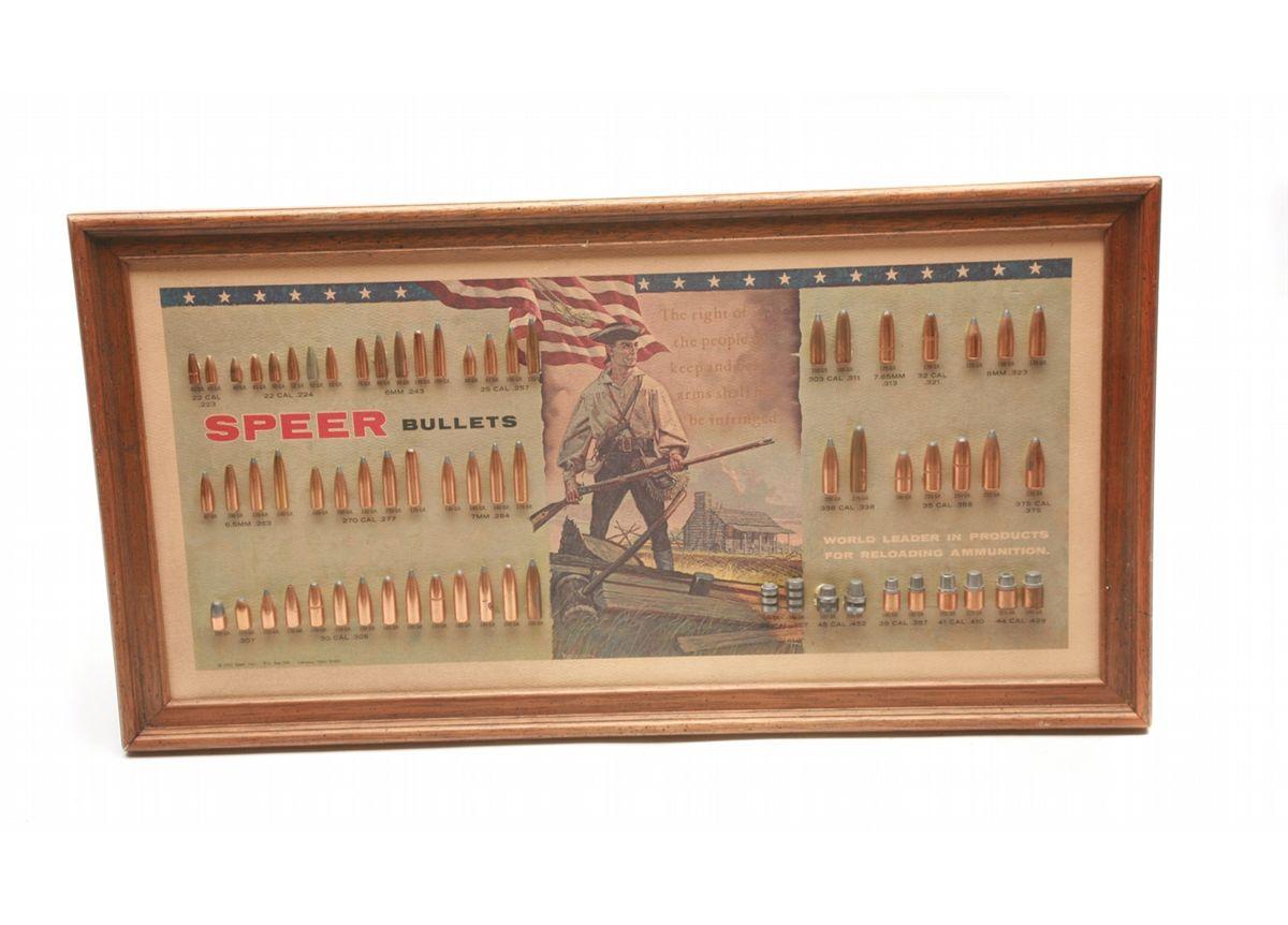 Lot 67 - 1967 Speer Bullet Display Board