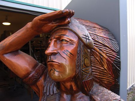 Cigar Store Indian Carving