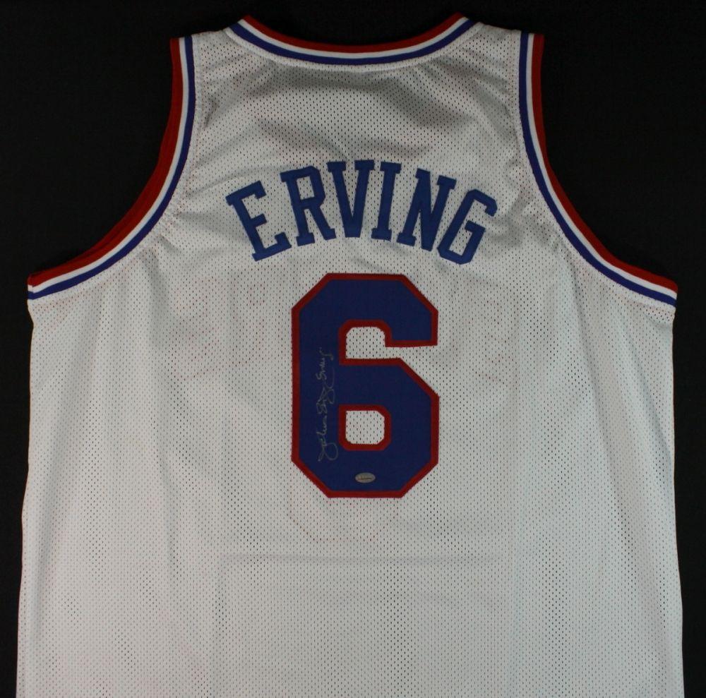331799d5 Image 1 : Julius Erving Signed Sixers Retro Jersey (Erving Hologram) ...