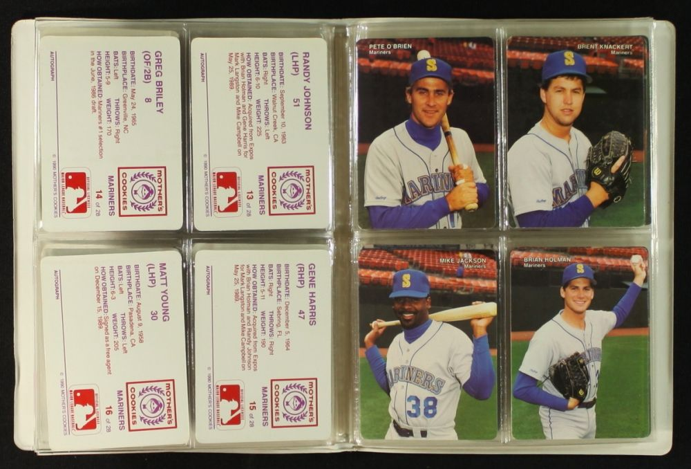 Set Of 1990 Mariners Mothers Cookies Baseball Cards