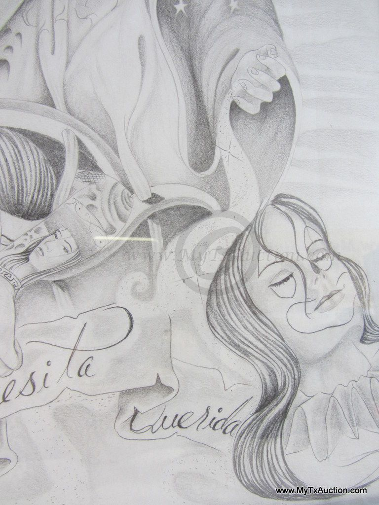 Religious art work pencil drawing 2001