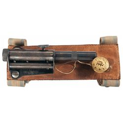 "Scarce ""Curiosa"" E. Carlstrom Sleeve Rifled Barrel Pistol with Original Box"