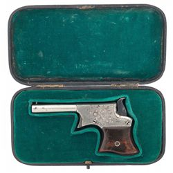 Attractive Cased Factory Engraved Remington No. 1 Vest Pocket Pistol