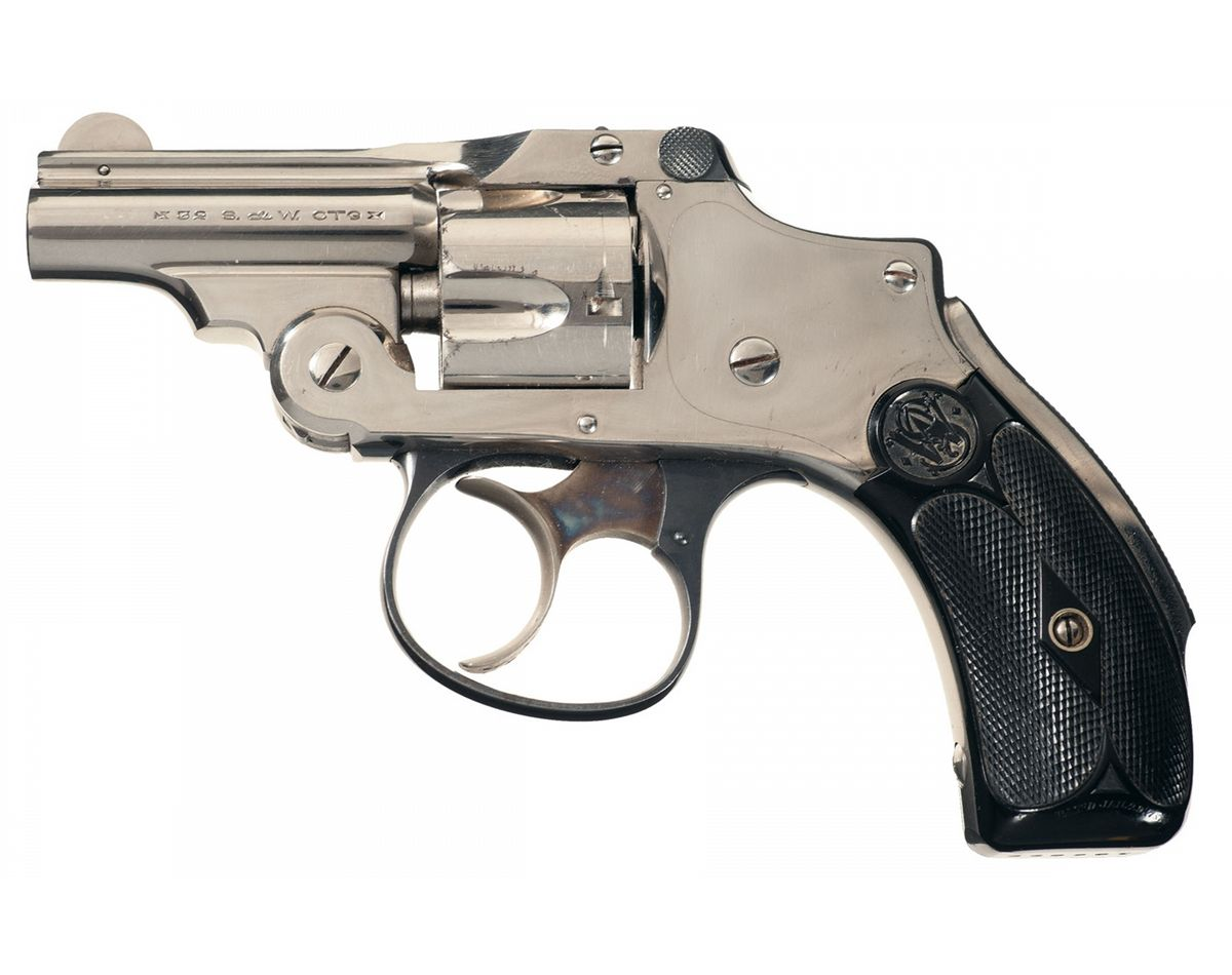 Excellent Rare Smith & Wesson 32 Safety Hammerless 2nd Model Double Action  Bicycle Revolver