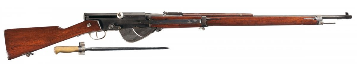 Very Rare Unaltered French Model 1917 Semi-Automatic Rifle with Bayonet